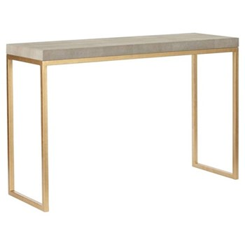 Lantau Console table, W120 x D40 x H78cm, shagreen and gold