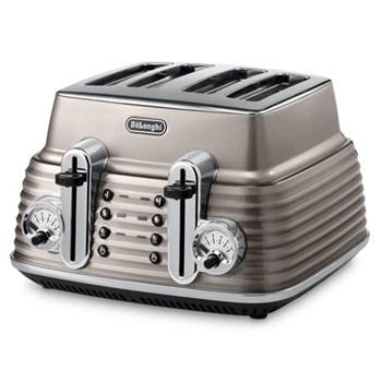 CTZ4003.BG Scultura Toaster, 4 slot, Champagne Gloss