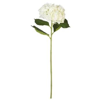 Faux mop head Hydrangea stem, 83cm, white