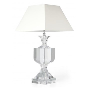 Wilde Lamp and cream square shade, 19""
