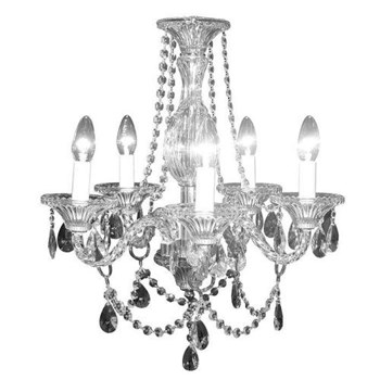 Savona Chandelier, twisted, 5 arm