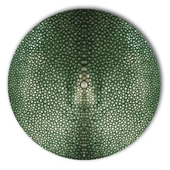 Acrylic - Shagreen Print Set of 4 round coasters, 10cm, verde