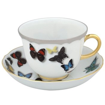 Christian Lacroix - Butterfly Parade Set of 4 teacups and saucers, 23.6cl
