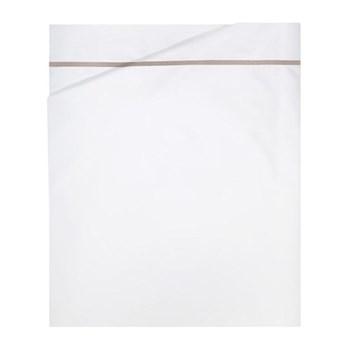 Athena Double flat sheet, 240 x 295cm, pierre on white