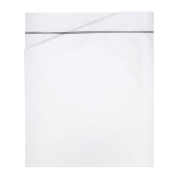 Athena Double flat sheet, 240 x 295cm, silver on white