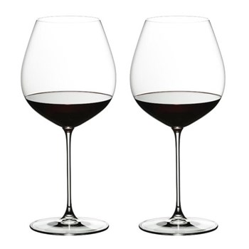 Pair of old world pinot noir glasses H23.5 x D10.8cm - 70.5cl