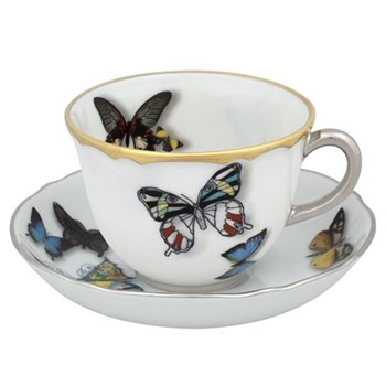 Christian Lacroix - Butterfly Parade Set of 4 coffee cups and saucers, 10.9cl