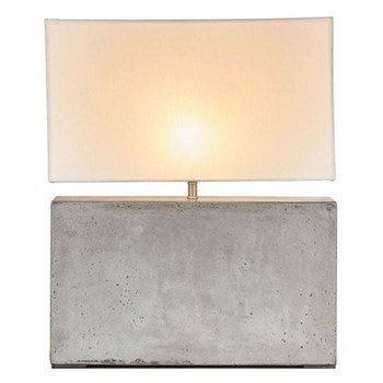 Cooper Table lamp with neutral shade, H61cm, cement