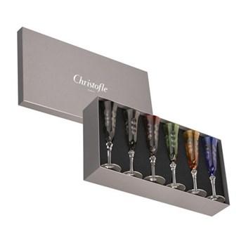Kawali Set of 6 Champagne flutes, 9cl, multi