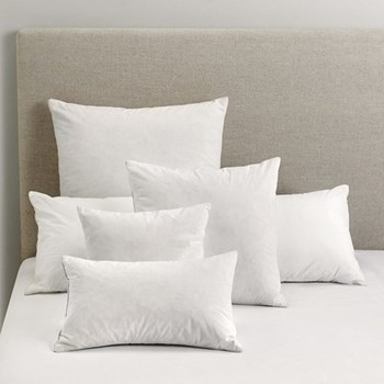 Large square cushion pad, 65 x 65cm, white duck feather