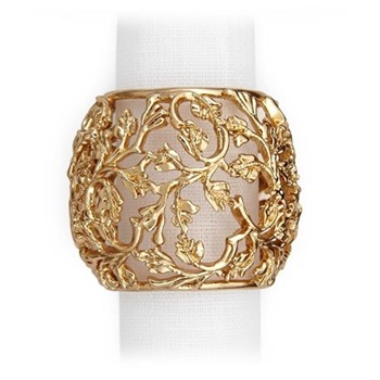 Lorel Set of 4 napkin rings, gold