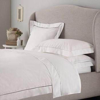 Santorini - 200 Thread Count Super king size duvet cover, W260 x L220cm, white