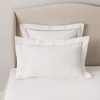 Santorini - 200 Thread Count Oxford pillowcase, 50 x 90cm, white