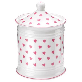 Pink Heart Cotton jar