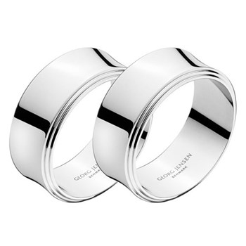 Pyramid Pair of napkin rings, D4cm, polished stainless steel