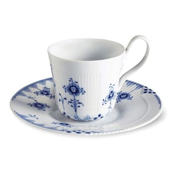 High handle cup and saucer 25cl