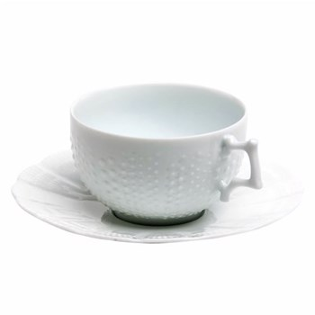 Corail Teacup and saucer, 18cl, white