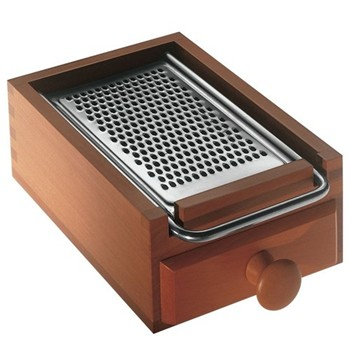 Anonimo Cheese grater, flat, 17 x 10cm, pear wood