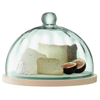 Dome and oak base 23.5cm