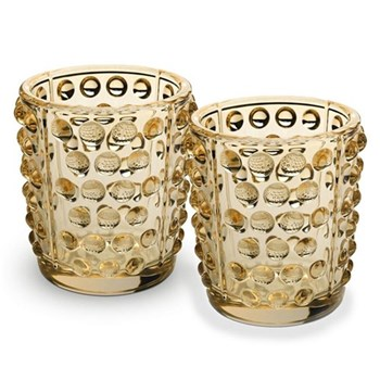 Mossi Pair of votives, gold lustre