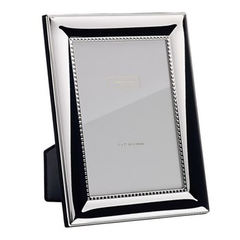 "Silver Shot Photograph frame, 5 x 7"", silver plate"