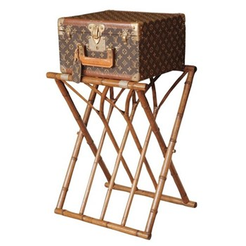 Panama Foldaway luggage rack, W46 x D36 x H60cm, bamboo