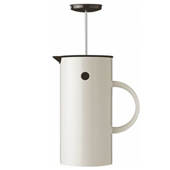 EM by Erik Magnussen French press coffee maker, 1 litre - H21 x W10.5cm, white