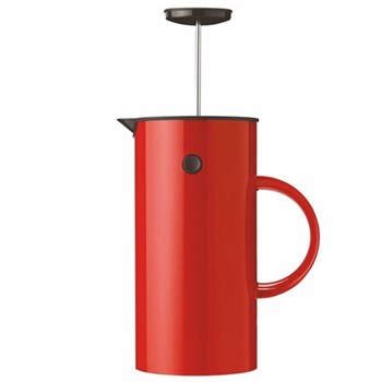 EM by Erik Magnussen French press coffee maker, 1 litre - H21 x W10.5cm, red