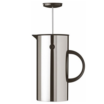 EM by Erik Magnussen French press coffee maker, 1 litre - H21 x W10.5cm, stainless steel