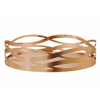 Tangle Dish, D27 x H6.5cm, stainless steel with lacquered copper coating