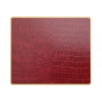 Croc Burgundy - Texture Range Set of 4 placemats with frame line, 30 x 22cm