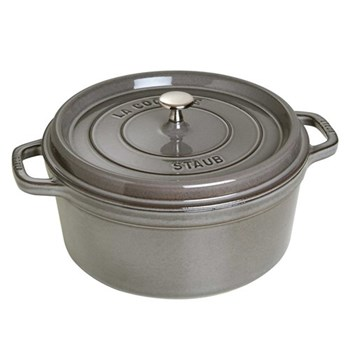 Round cocotte, 18cm, graphite grey