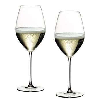 Pair of Champagne/sparkling wine glasses H23.5 x D8.5cm - 44.5cl