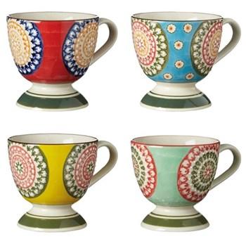 Florya Set of 4 mugs, H10cm