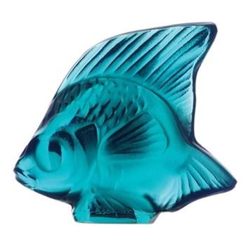 Fish ornament, H4.5 x L5.3cm, turquoise