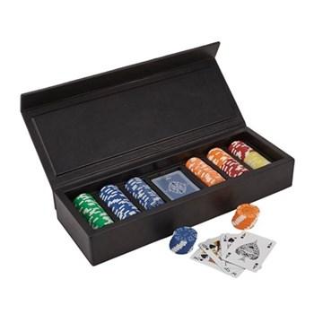 Parma Poker case, 41.5 x 16cm, bordeaux