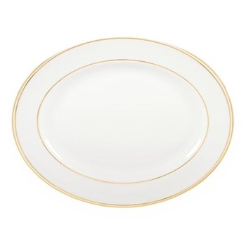 Federal Gold Oval platter, 33cm