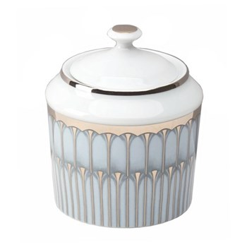 Arcades Sugar bowl, 25cl, grey and platinum