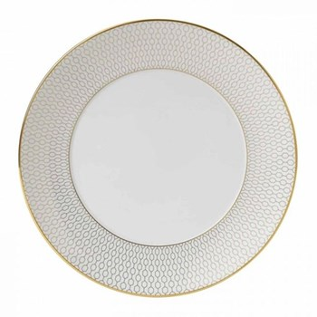 Arris Salad plate, 20cm, white with gold band