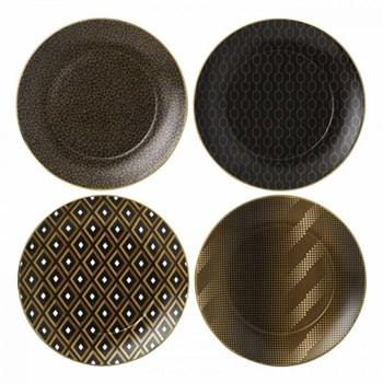 Arris Set of 4 tea plates accent, 20cm, assorted