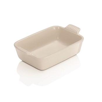 Stoneware - Heritage Rectangular dish, 19 x 13.8 x 5.5cm - 1.1 litre, almond