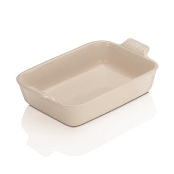 Stoneware - Heritage Rectangular dish, 26.5 x 19 x 6cm - 2.3 litre, almond