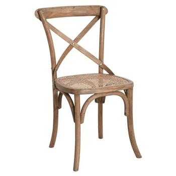 Camargue Dining chair, W49 x D54 x H88cm, weathered oak