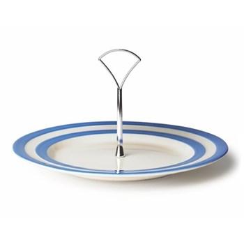 Cake plate 1 tier, 25.4cm, blue