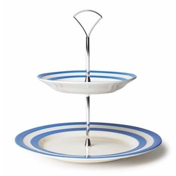 Cake plate 2 tier 25.4/17.8cm