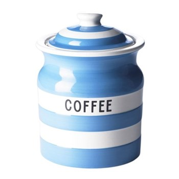 Coffee storage jar, 84cl, blue