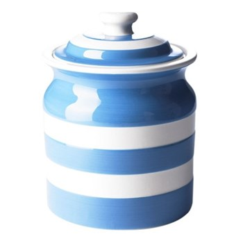 Plain large storage jar, 1.68 litre, blue
