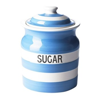 Sugar storage jar, 84cl, blue