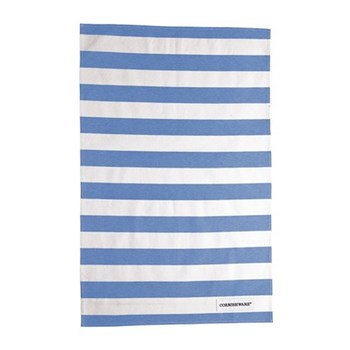 Pair of tea towels, blue cotton