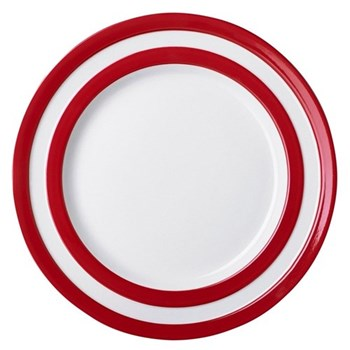 Set of 4 side plates, 17.8cm, red